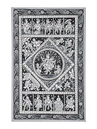 Dashavatar Pattachitra Artwork on Canvas (16.6in x 10.6in)