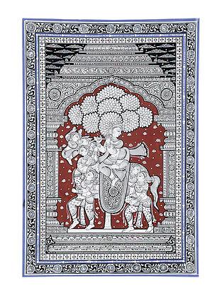 Kandarp Ashv Pattachitra Artwork on Canvas (18.6in x 13in)