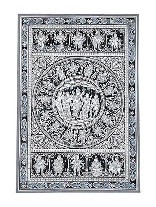 Dashavatar Giri Goverdhan Pattachitra Artwork on Canvas (18.7in x 13in)