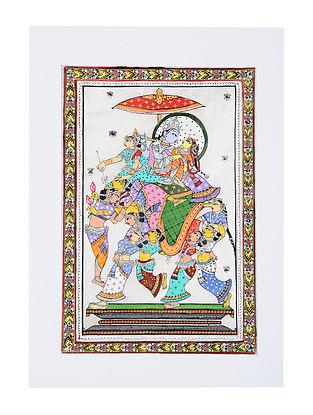 Kandarp Hasti Pattachitra Artwork on Canvas (20in x 14in)