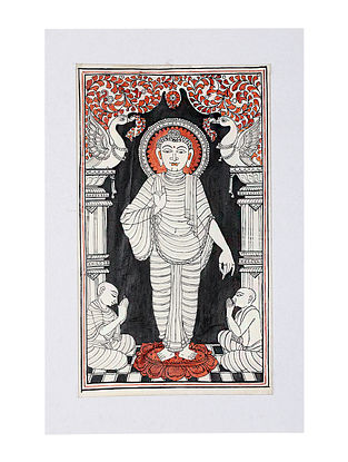 Buddha Pattachitra Artwork on Canvas (14.5in x 9.5in)