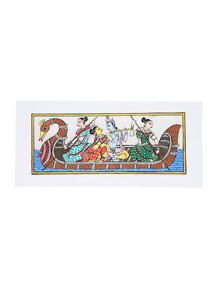 Nauka Vihar Pattachitra Artwork on Canvas (20in x 9.2in)