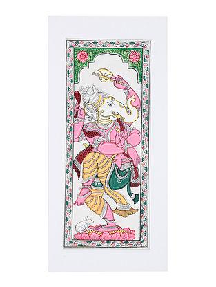 Ganesha Pattachitra Artwork on Canvas (20in x 9.2in)
