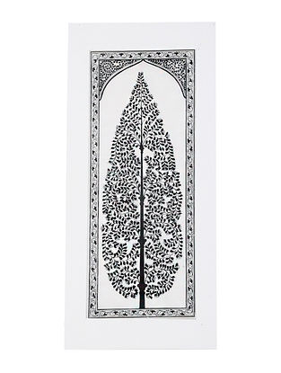 Tree Pattachitra Artwork on Canvas (20in x 9.2in)