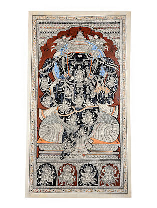 Ganesha Pattachitra Artwork on Canvas (42.5in x 24in)