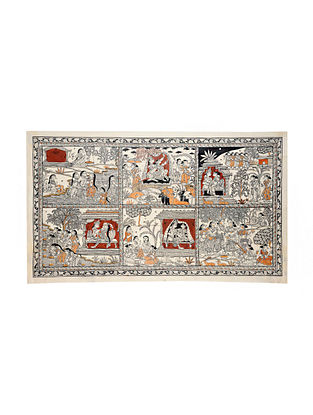 Six Seasons Pattachitra Artwork on Canvas (24in x 43in)