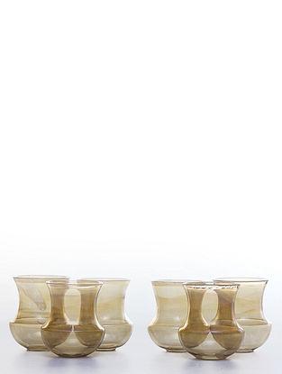 Hookah Glasses (Set of 6) (L:3.5in, W:3.5in, H:3.9in)