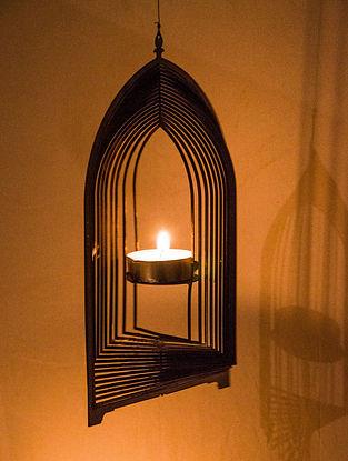 Rumi Handcrafted Brass Tea Light Holder (L:8.2in, W:4.7in, H:0.02in)