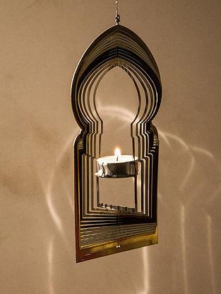 Rumi Handcrafted Brass Tea Light Holder (L:8.7in, W:4.7in, H:0.02in)