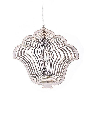 Rumi Handcrafted Hanging Stainless Steel Tea Light Holder (L - 5.5in, W- 5.1in, H - 0.02in)