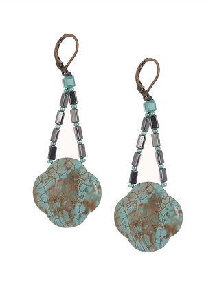 Moss Agate Beaded Earrings