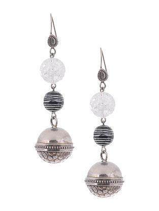 Quartz and Agate Silver Earrings