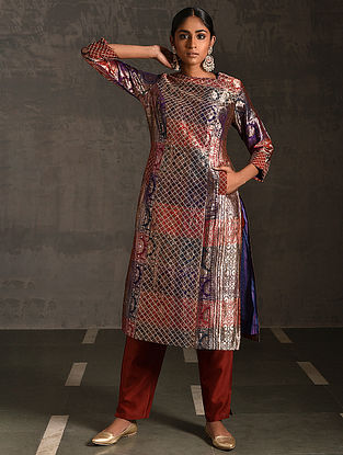 LALITA - Multicolor Vintage Benarasi Silk Brocade Quilted Kurta with Pockets