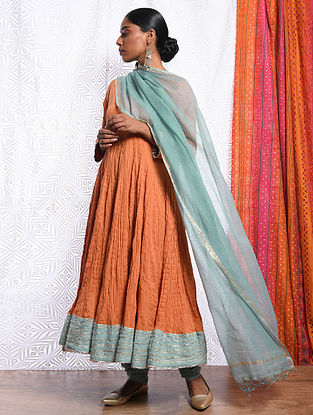 JAHANARA - Blue Kota Cotton Dupatta with Gota