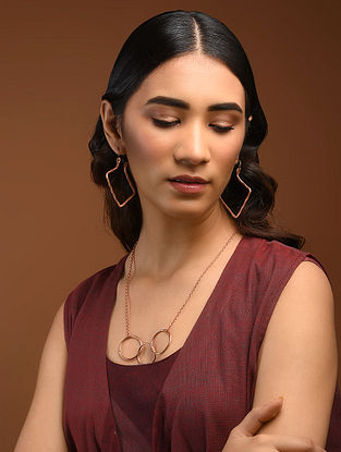 Classic Copper Earrings and Necklace (Set of 2)