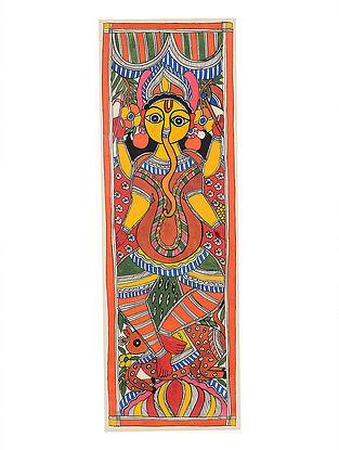 Ganesha Madhubani Painting - 22.8in x 7.5in