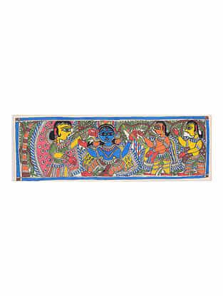 Deity Madhubani Painting - 7.8in x 21.8in