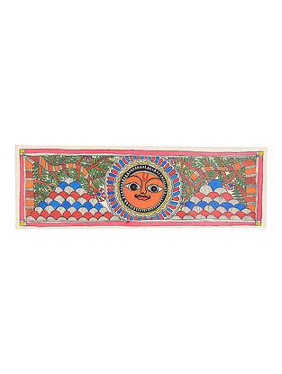 Soorajmukhi Madhubani Painting - 7.5in x 22.8in