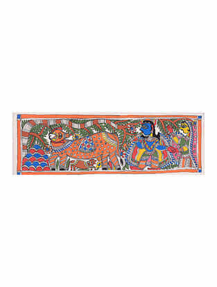 Madhubani Painting - 7.5in x 22.6in