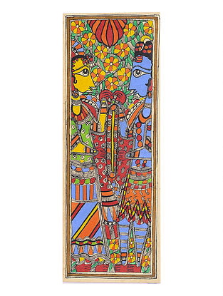 Shiva-Parvati Madhubani Painting - 15.2in x 5.5in