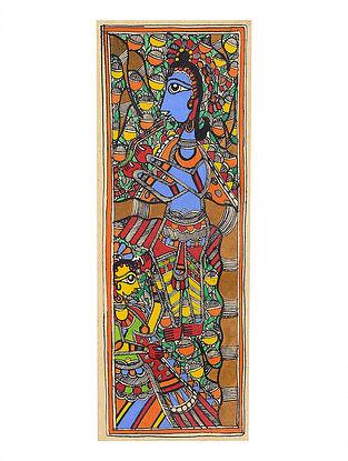 Deity Madhubani Painting - 15.3in x 5.6in
