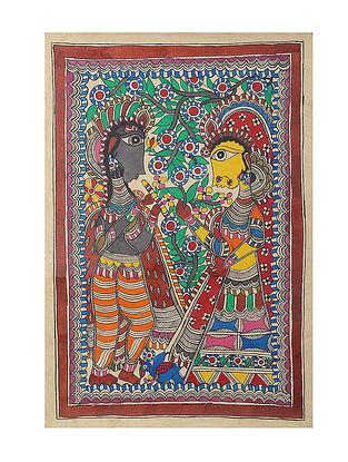 Radha-Krishna Madhubani Painting - 22in x 15in