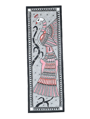 Peacock Madhubani Painting (22in x 7.3in)