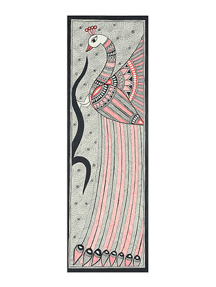 Peacock Madhubani Painting (23in x 7.3in)