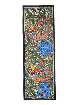 Bird Madhubani Painting (22in x 7.3in)