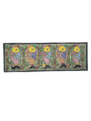 Fish Madhubani Painting (22in x 7.3in)