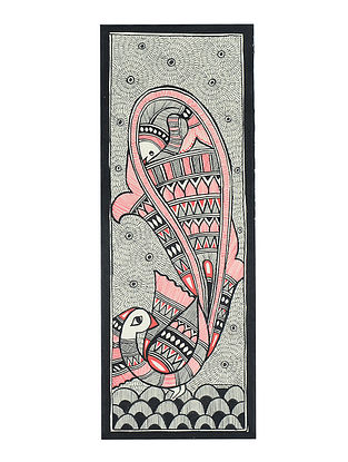 Peacock Madhubani Painting (15in x 5.5in)
