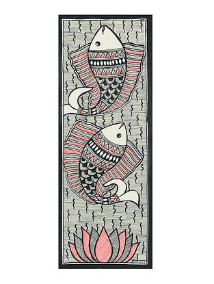 Fish Madhubani Painting (15in x 5.5in)