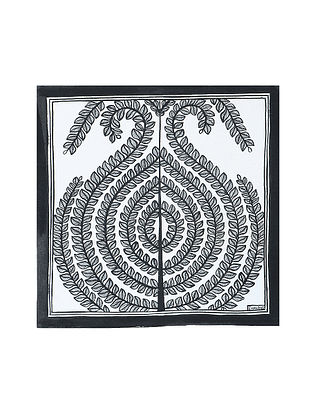 Tree of Life Madhubani Painting (7.3in x 7.3in)