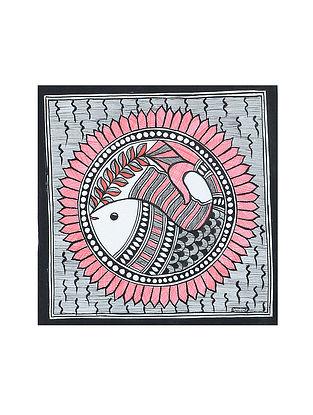 Fish Madhubani Painting (7.2in x 7.2in)