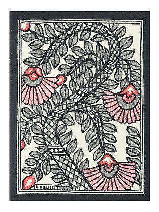 Tree Madhubani Painting (7.5in x 5.5in)