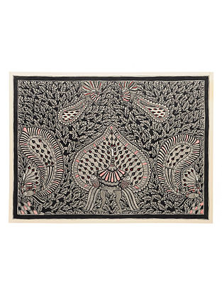 Peacock Madhubani Painting (22in x 30in)