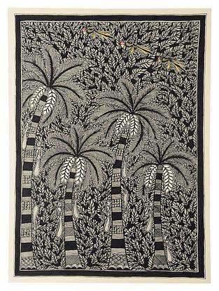 Banana Tree Madhubani Painting (30in x 22in)