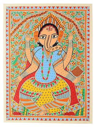Ganesh Madhubani Painting (30in x 22in)
