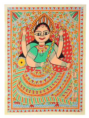 Saraswati Madhubani Painting (30in x 22in)