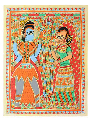 Shiv Parvati Madhubani Painting (30in x 22in)