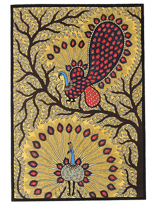 Peacock Madhubani Painting (22in x 15in)