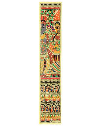 Radha Krishna Madhubani Painting (30in x 5.5in)