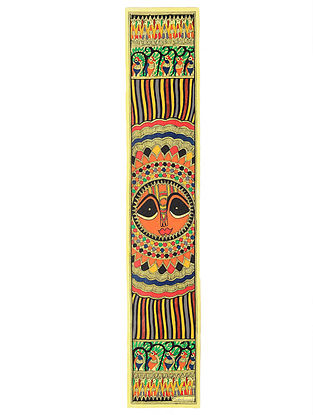 Sun God Madhubani Painting (30in x 5.5in)
