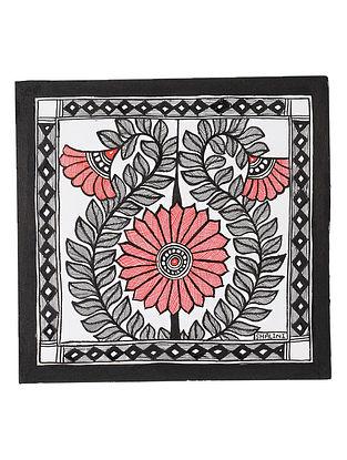Lotus Madhubani Painting (7.2in x 7.5in)