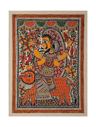 Goddess Durga Madhubani Painting (28in x 20.5in)