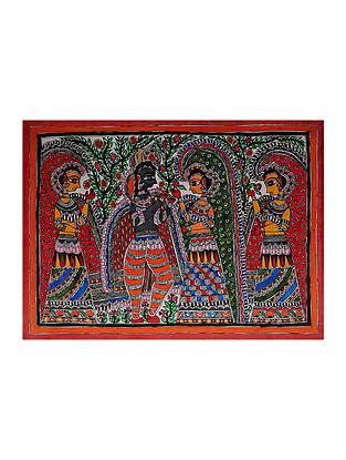 Radha Krishna Madhubani Painting (20.5in x 29in)
