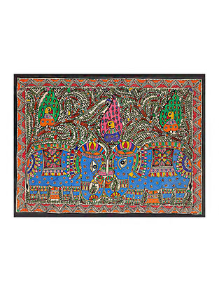Elephant Madhubani Painting (21.2in x 29.5in)