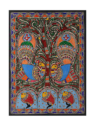 Peacock Madhubani Painting (29in x 21.2in)