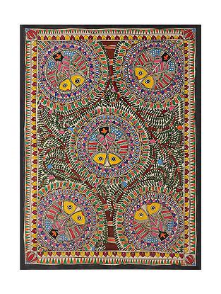 Fish Madhubani Painting (21.2in x 29.2in)