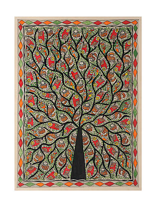 Tree of Life Madhubani Painting (29in x 21in)